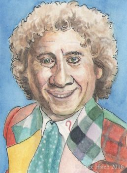 Colin Baker sketchcard by changewinds