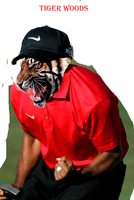 Tiger Woods by sketchbookantagonist