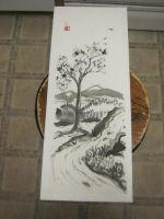 Sumi river with tree of life by Iolii