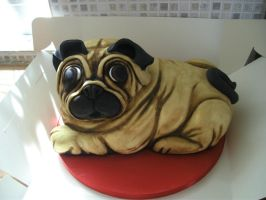 Mr. Pug Cake by gertygetsgangster