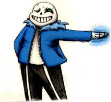 Having some quality time with Sans by Crystalitar