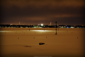 Harbor and City Lights by TommyRotten