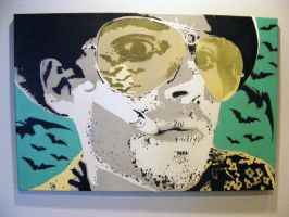 Fear And Loathing Bat Country - LARGE Johnny Depp by TheStreetCanvas