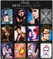 2015 Summary of Art by Chrisily