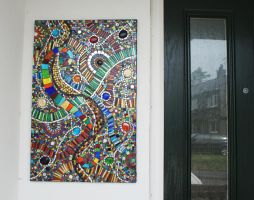 Mosaic panel by Manicmosaics