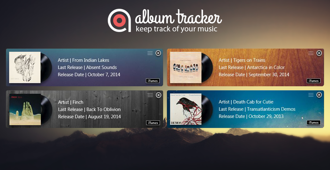 Album Tracker: Keep Track of Your Music by closer2thelung