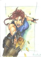 Lara in action by littlesusie2006