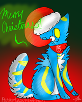 Merry Christmas from a poorly draw cat by AutumLeavesofFall