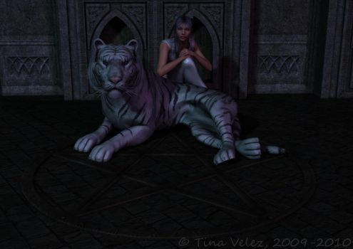 White Tiger Familiar by TinyAngel21