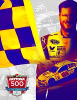 Dale Jr. Daytona 500 Victory Poster by Driggers