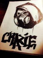 Crazie's Character (gas mask) by LilWolfieDewey
