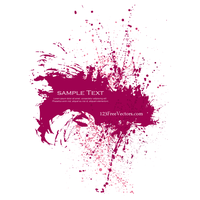 Pink Paint Splatter Background by 123freevectors