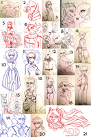 C-D : Sketches N' Stuff 3 by Zap-Zap-Forever