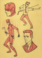 Daredevil doodles by sn0otchie