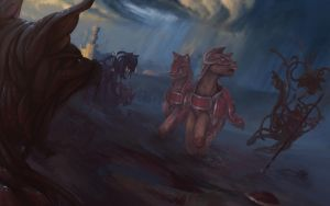 Fall of Equestria - Coltrane's Final Charge by Lionel23