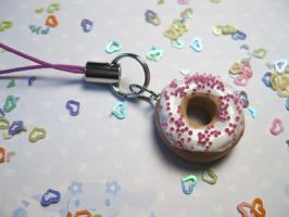 Kawaii Doughnut Phone Charm by JennyLovesKawaii