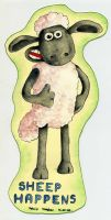 bookmark with Shaun the sheep by schikaka