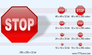 Stop with shadow Icon by jpeger