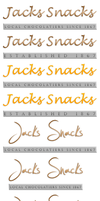 Jacks Snacks Logo - Homing in on the design by 0xazzi0