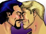 Steve and Tony sittin' in a tree ... by tripperfunster