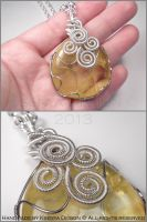 Yellow Swirls Revisited by KsenyaDesign