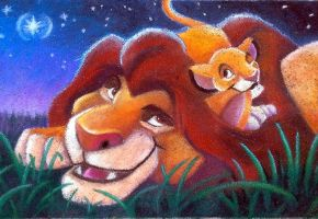 Lion King Under The Stars Chalk by charfade
