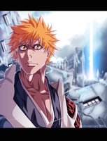 manga bleach 584 - ichigo by sAmA15