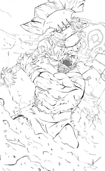 Battle Orc - LineArt by RebelRacoons