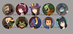 League of Legends - Button Set I by ffSade