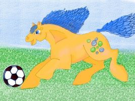 Bubbles playing Soccer by leonaenae