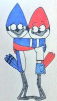 Mordecai and Margaret by Jillybean345