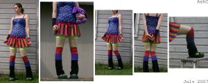 Crazy Colorful Circus Clothing by ash-bunny