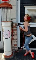 She pumps her own gas by BPinzonPhotography