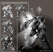 Assault Mech(progression) by Destructiconz