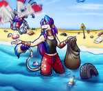 Helping to keep the beach clean! by coyotepack
