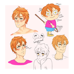 dumb peach boy doodles by banana--boat