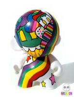 Rainbow Mini Munny by nreazon