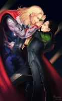 ThorxLoki : Don't tempt me Loki by setsuna1111
