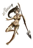 Nidalee, the Beastial Huntress by MyTh1C