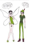 Peter and Tinker Bell Cosplay by liquid-trauma