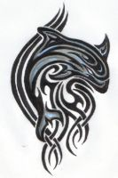 Tribal Dolphin by ReaperXXIV