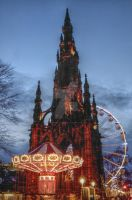 Scott's monument Christmas by boydgphotography