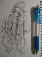 Sketchbook Portrait: Indie Girl by CARAMAX-art