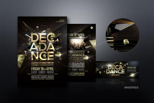 Decadance Flyer Template by pixelfrei