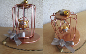 Tiny Steampunk-Birdcage Tophat by UndercoverKadaj