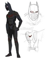 Batman Beyond Redesign by pencilHead7