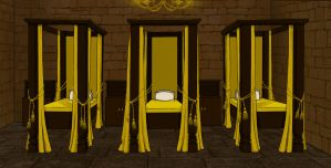 Hufflepuff Dorm Room 5.5 by Hogwarts-Castle