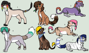 Big Cat Adoptables by Kainaa