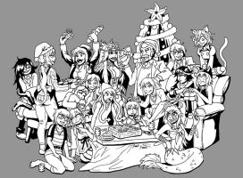 Black and White and Christmas by strangefour