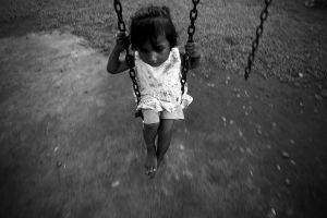 girl on the swing by hersley